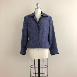 Nipon Boutique Petite Purple Tweed Wool Blazer